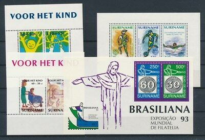 [G81802] Suriname 4 good sheets Very Fine MNH