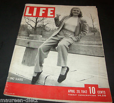 April 20, 1942 LIFE Magazine BING Cosby 40s Advertising ads add FREE SHIPPING 4