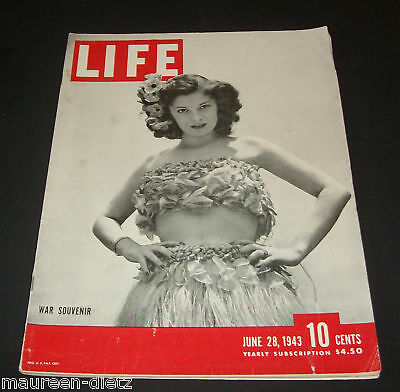June 28, 1943 LIFE Magazine Old 40s ad add adds ads, FREE SHIPPING 6 29 30 27 26