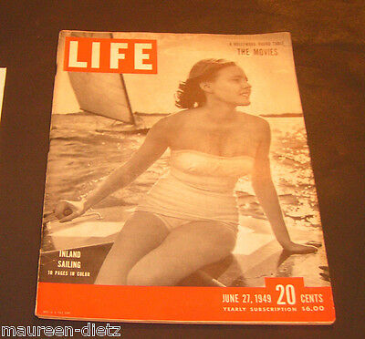 June 27, 1949 LIFE Magazine Historal 40s advertising ads COKE Ad FREE SHIPPING 6