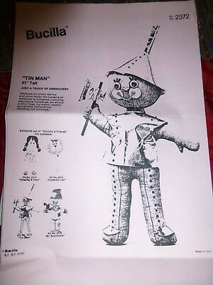 "Vintage Uncut SEWING PATTERN / INSTRUCTIONS Wizard of Oz TIN MAN 21"" doll"