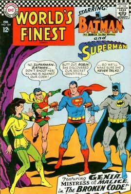 WORLD'S FINEST COMICS #164 VG/F, SUPERMAN, BATMAN, ROBIN, DC Comics 1967