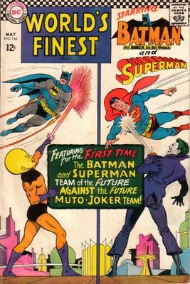 WORLD'S FINEST COMICS #166 VG/F, SUPERMAN, BATMAN, JOKER C/S, DC Comics 1967