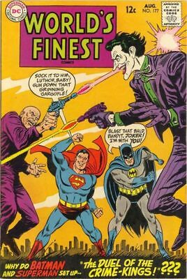 WORLD'S FINEST COMICS #177 F, SUPERMAN, BATMAN, JOKER C/S, DC Comics 1968