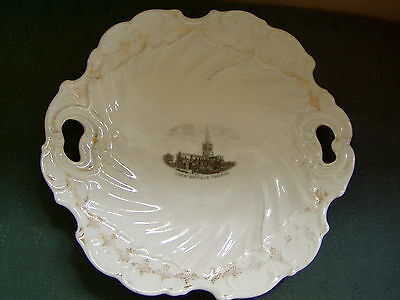 Old Chesterfield Church - Ornate Dish - Crested China