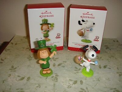 Hallmark 2014 St. Patty's Day & Easter Beagle Monthly Ornament