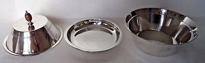Superb Art Deco 1934 Sterling / Solid Silver Muffin Dish & Liner - 417 Grams!