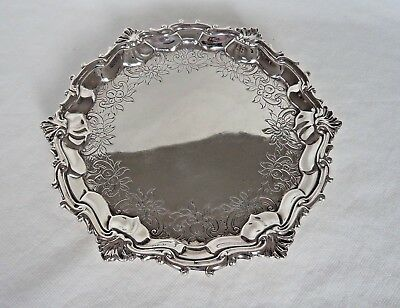 Scottish 18Th Century George Ii 1753 Clan Sterling / Solid Silver Salver / Tray