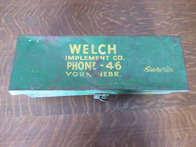 Vintage John Deere Advertising Tool Box York Nebraska
