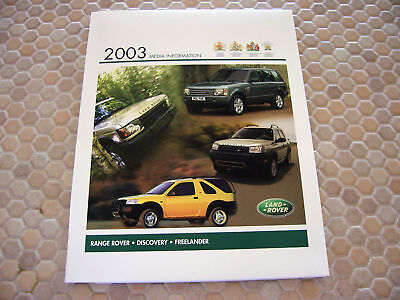 Land Rover Official Autoshow Press Release Kit Brochure 2003 Usa Edition