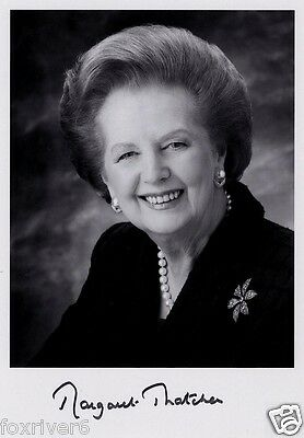 MARGARET THATCHER Signed Photograph - Politician British Prime Minister preprint