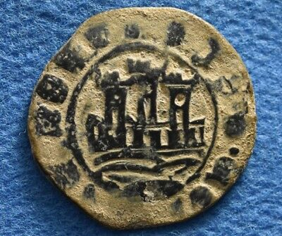 PORTUGAL Afonso V o Africano (the African) 1438-1481. Æ 1/6 Real or Ceitil coin