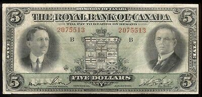 riotis 4610:THE ROYAL BANK OF CANADA $5 1927, P-S1383 IN VF