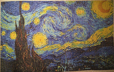 """Needlepoint canvas """"The Starry Night"""" #PP14"""