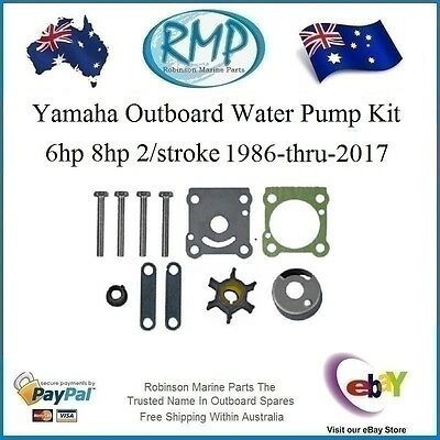 A New RMP Water Pump Kit Suits Yamaha 6hp-8hp 1986-thru- 2018 # R 6N0-W0078-A0