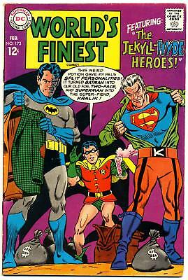 WORLD'S FINEST COMICS #173 F, 1st S.A. Two-Face! Batman Superman DC Comics 1968