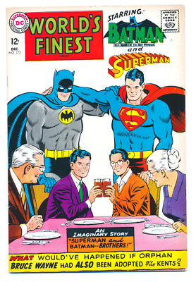 WORLD'S FINEST #172 VG/F, SUPERMAN, BATMAN, DC Comics 1967