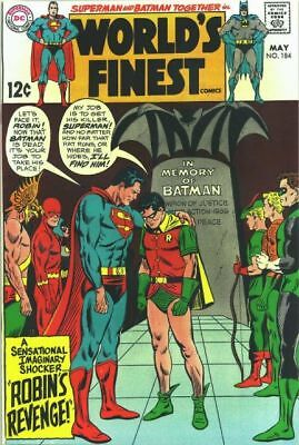 WORLD'S FINEST #184 VG, SUPERMAN, BATMAN, Writing on F/C, DC Comics 1969