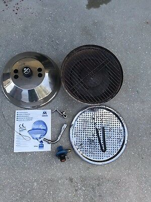 "Marine-Boating-Sailing-Magma 14"" Stainless Kettle Grill-Fish/Veggie Tray-""NICE"""