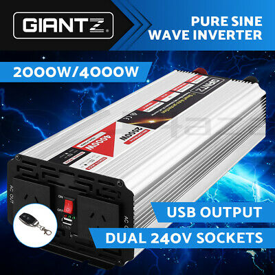 【Now$175】Power Inverter 12V-240V Pure Sine Wave DC to AC 2000W/4000W Car Camping