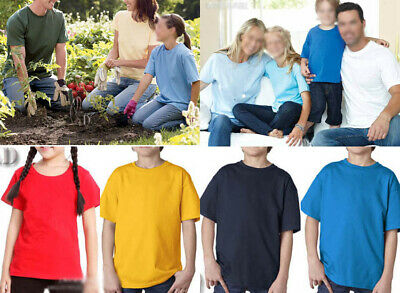 AU SELLER Kids to Adult Unisex 100% Cotton Plain Basic T-Shirt kt002