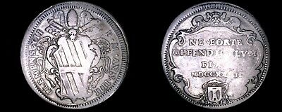1734-IIII Italian States Papal States 1 Testone World Silver Coin - Clement XII