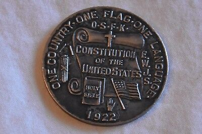vintage 1922 KKK coin nationalist one flag nation Symwao Mokana Bible right wing