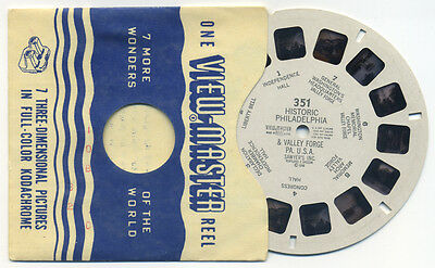 Historic Philadelphia and Valley Forge Pennsylvania 1948 View-Master Reel 351
