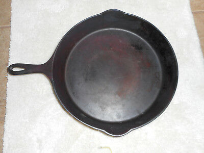 Vintage Wagner Ware Sidney 0 Cast Iron Large Skillet #12 Double Pour Heat Ring