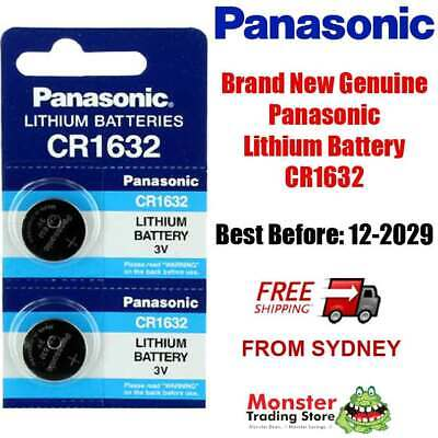 2pcs CR1632 3V LITHIUM BUTTON COIN BATTERY BRAND NEW GENUINE EXPIRES: 12/2028
