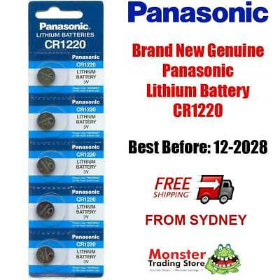 5 x CR1220 3V LITHIUM BUTTON COIN BATTERY BRAND NEW GENUINE EXPIRES: 12/2028