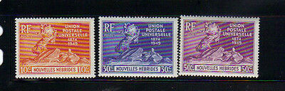 New Hebrides French 3 MLH stamps