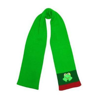 Kidorable Frog Knit Scarf, Green,  One Size, Handmade Lightweight