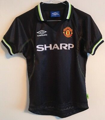 Manchester United third football shirt size 134 for boys Umbro 1998-1999