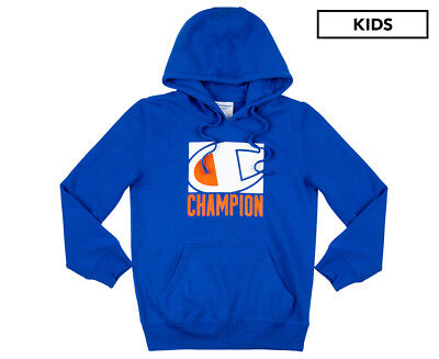 Champion Boys' Logo Hoodie - Flight Blue