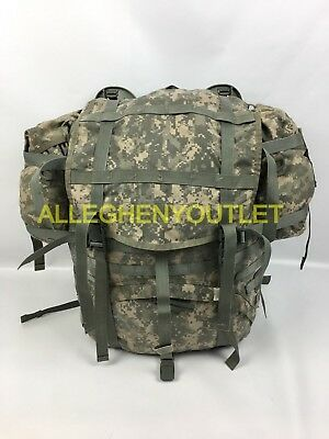 US Military MOLLE ACU LARGE RUCKSACK Field Pack w/ Frame + Sustainment Pouch GC
