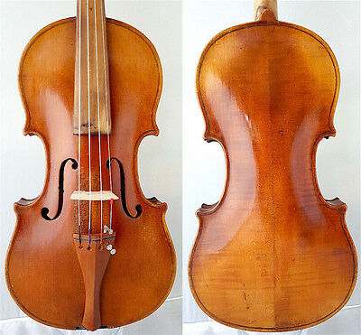 FINE 4/4 OLD VIOLIN label: B.LANTNER 1915 OLD TIGER WOOD fiddle 小提琴 ヴァイオリン Geige