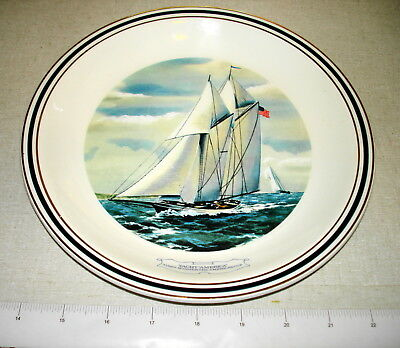1973 Danbury Mint NY Yacht Club AMERICA'S CUP COLLECTOR PLATE Wedgwood NR