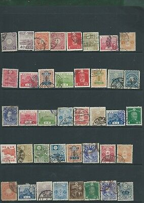 Japan Nippon nice lot of 40 old used stamps
