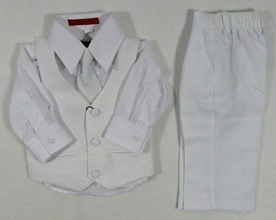 Baby Boys Suits Tie Christening Waistcoat Trousers Outfit Smart Baptism 0 2 yrs