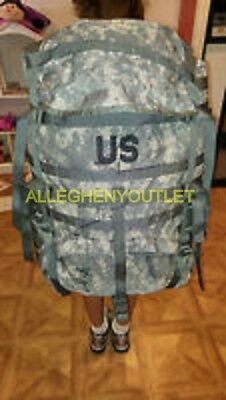 US ARMY Military ACU MOLLE LARGE RUCK SACK FIELD PACK COMPLETE W FRAME EXCELLENT