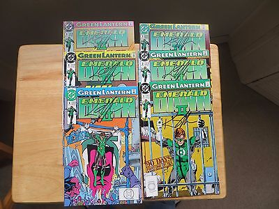 1991 Dc Green Lantern Emerald Dawn Ii, 6 Issue Set Signed By Keith Giffen, Poa