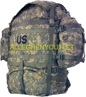 US Military Molle ACU Large Ruck sack Field Pack Complete w/ Frame & Pouches EXC
