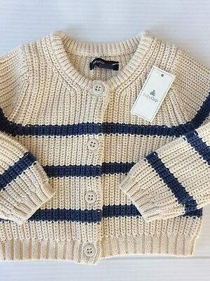 Toddler Boy Gap Nwt Size 12-18 Months Button Front Knit Cardigan +