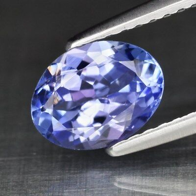 Clean! IF 1.18ct 7.8x6mm Oval Natural Violet Blue Tanzanite, Tanzania