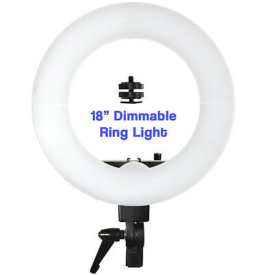 "Photo Studio Dimmable Adjustable 18"" Video 240 LED Ring Light Unit 3200-5500K"