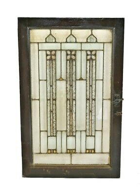 Craftsman Style Salvaged Chicago Leaded Glass Bungalow Window