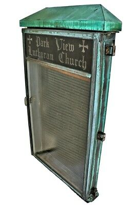 Metal Park View Lutheran Church Letterboard Directory