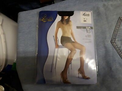 Levante Calze Lia 15 Denier Size 4 Extra Large Nero Ultra Sheer Tights