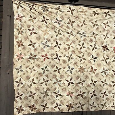 Rags VERY EARLY QUILT CIRCA 1840-50. GREAT FABRIC GOOD CONDITION